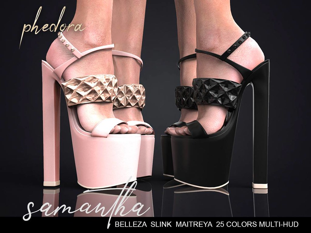 "Phedora. for Fetish Fair by WeDo SL Events ~ ""Samantha"" heels ​♥"