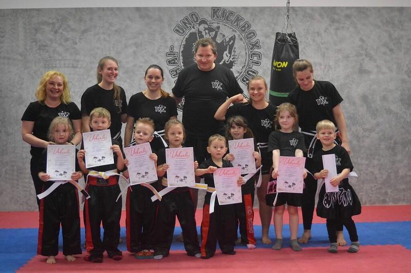 TKC Gürtelprüfung der Kickbox Minis im März 2019