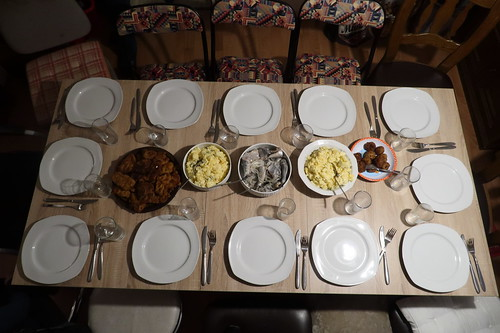 Tisch gedeckt für 12 Personen