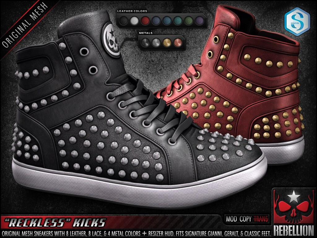 "= REBELLION = ""RECKLESS"" KICKS"