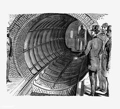 Passengers at a train station illustration