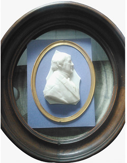 Wax portrait of Treasury Secretary Hugh McCulloch by William Barber