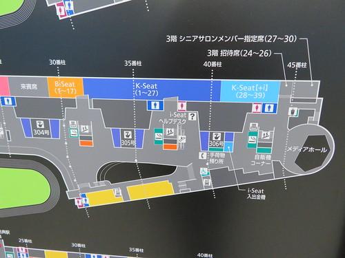 中山競馬場の3階K-SeatとB-Seatの詳細