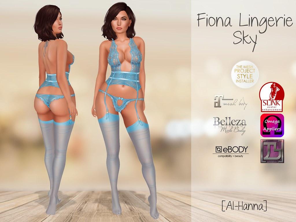 [Al-Hanna] Fiona Lingerie Sky