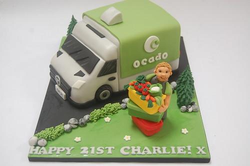 Fantastic Ocado Delivery Van Cake Beautiful Birthday Cakes Funny Birthday Cards Online Aeocydamsfinfo