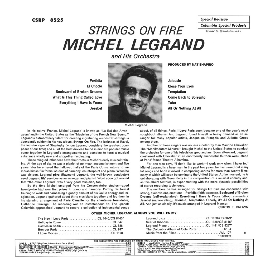 Michel Legrand - Strings on Fire