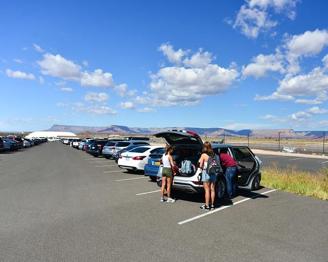 Parking del skywalk del Gran Cañón del Colorado