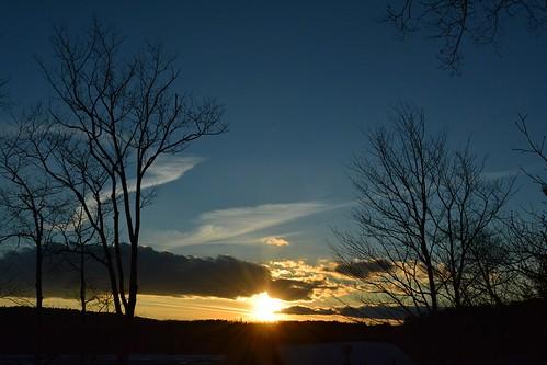 sunset settingsun nature naturephoto naturephotography landscape landscapephoto landscapephotography februarysunset february maine