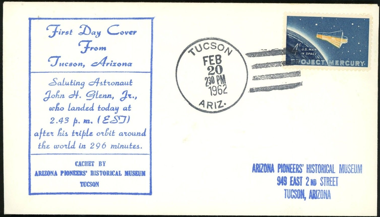 United States - Scott #1193 (1962) first day cover - Tucson, Arizona