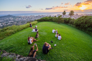 Watching the Sunset, Tantalus Lookout | by daverodriguez