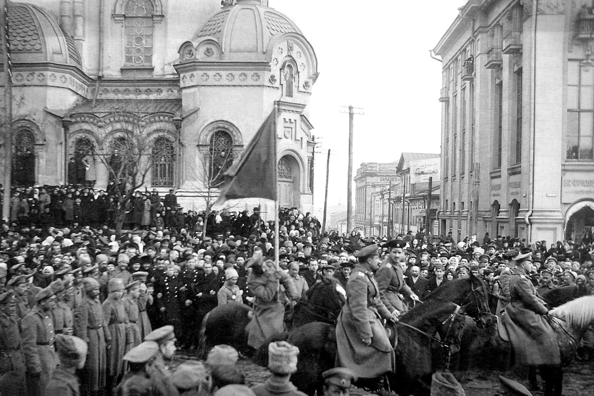 Занятие Харькова добровольческой армией генерала Деникина