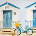 Bike & Beach Huts at the Seaside by Simon Downham