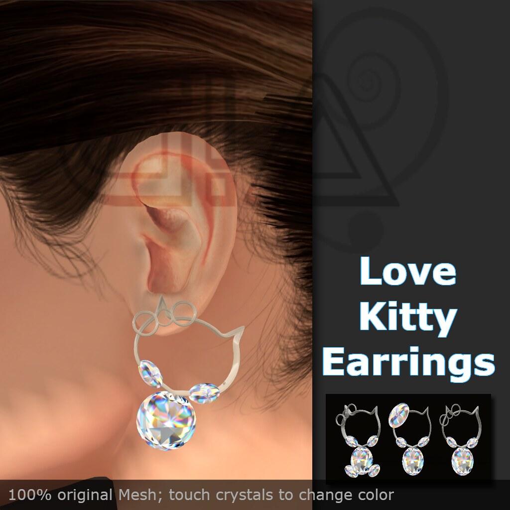 love kitty earrings vendor