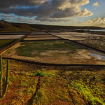 Sunset at Lanzarote Salt Farm by Rob Draper