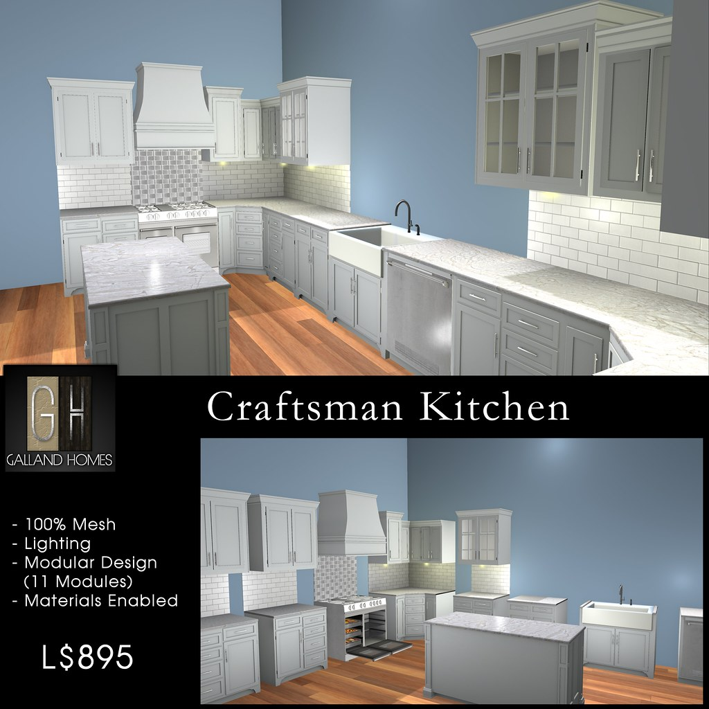 Craftman Kitchen by Galland Homes
