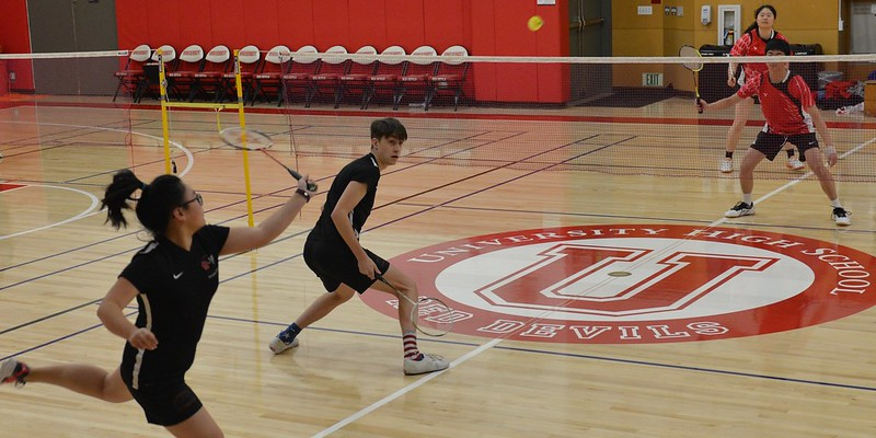 Varsity Badminton vs. University, March 1, 2019