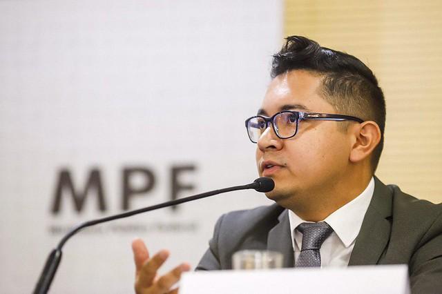 Luiz Eloy Amado, representante da Articulação dos Povos Indígenas do Brasil (Apib), durante evento do MPF sobre direitos indígenas  - Créditos: Midia Ninja