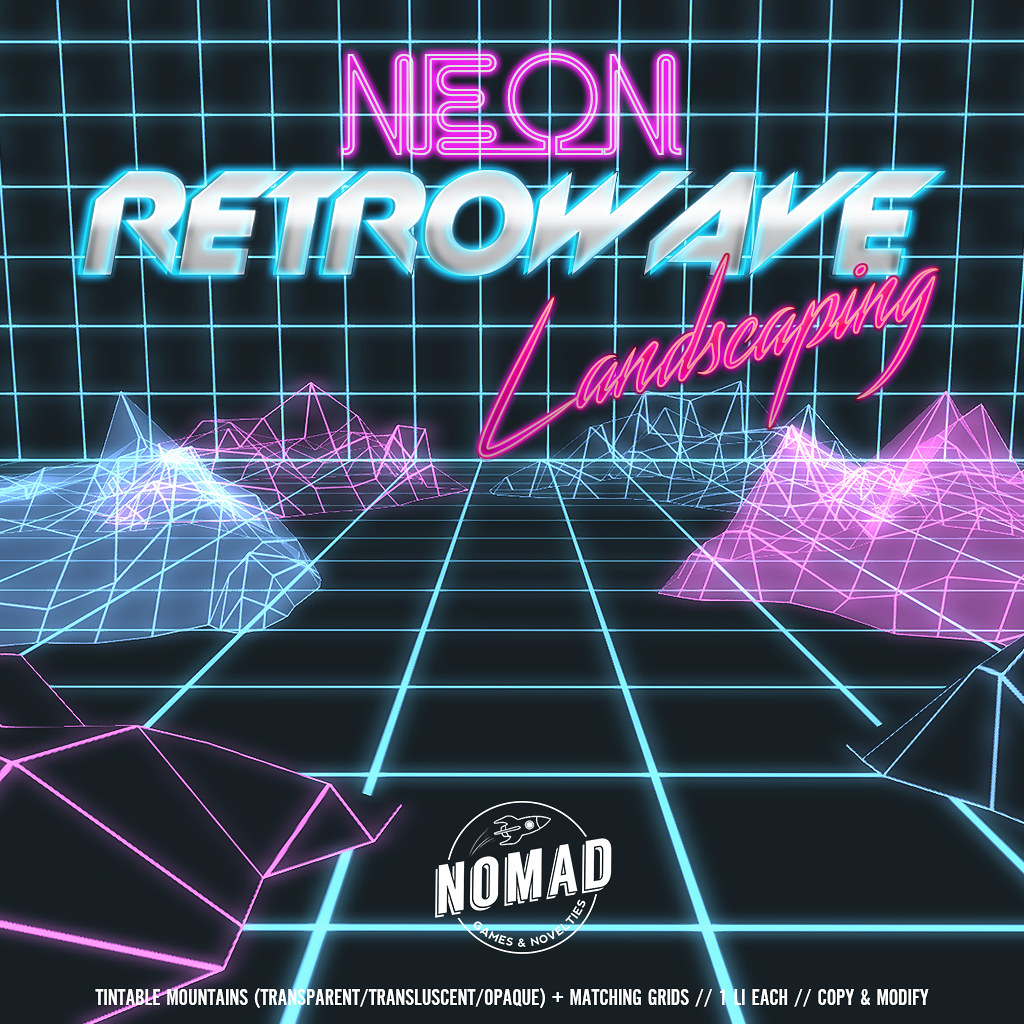 NOMAD // NEON RETROWAVE LANDSCAPING