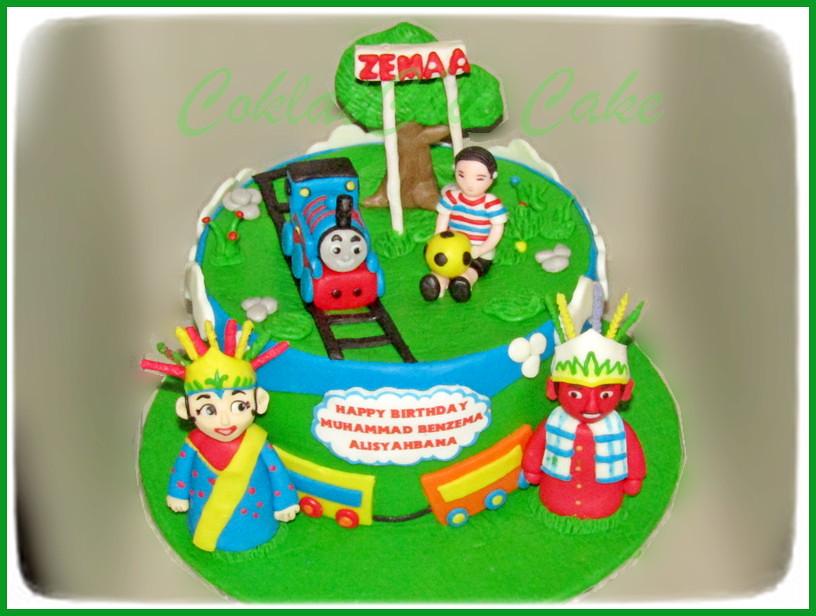 Cake Thomas dan ondel-ondel ZEMAA 18 cm