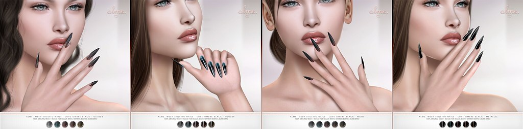 "Alme for Fetish Fair powered by WeDo SL Events ""Alme Mesh Stiletto nails//Love Ombre"" ♥"