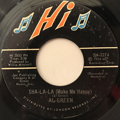 AL GREEN:SHA-LA-LA(MAKE ME HAPPY)(LABEL SIDE-A)
