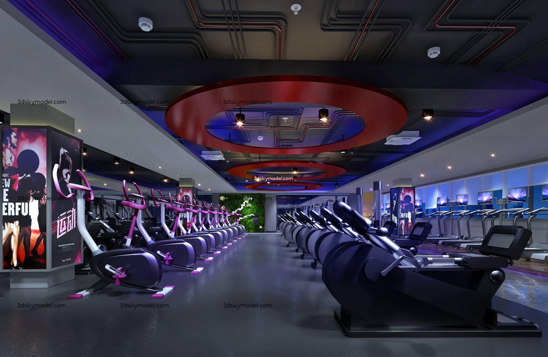 sell Gym 3dmodel 8 Phòng thể dục