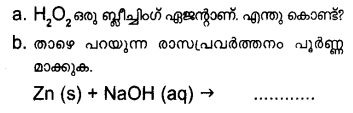 Plus One Chemistry Model Question Papers Paper 3Q19