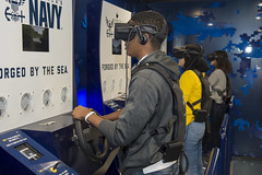Students of Celebration High School participate in the Navy's virtual reality asset.