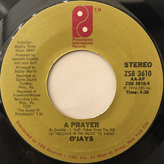 O'JAYS:DARLIN' DARLIN' BABY(SWEET, TENDER, LOVE)(LABEL SIDE-B)