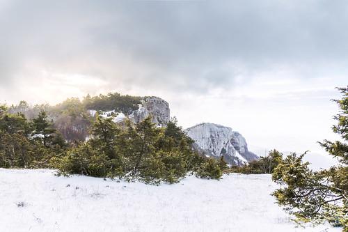 Wonderful light in Snowy Landscape - Col de Limouches, Vercors