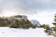Wonderful light in Snowy Landscape - Col de Limouches, Vercors