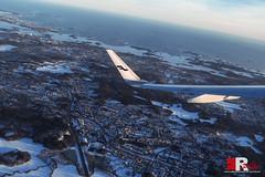 flying over Helsinki