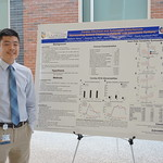Matthew Wang with poster