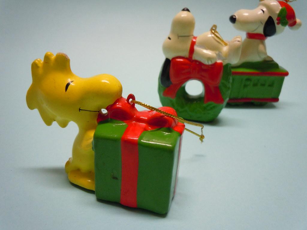 80s Peanuts Ceramic Christmas Tree Decorations Made In K Flickr
