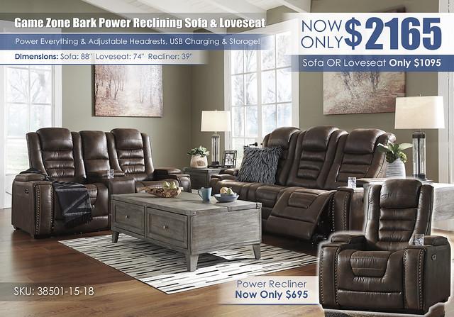 Game Zone Bark Power Reclining Set_wInsert_38501-15-18-T904-PILLOW