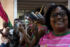 Mang ens 190110 152 Bateria ritmista instrumento tamborim agogo sorrido