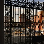 Wrought iron portico screen, San Pietro in Vincoli, Colle Oppio, Rome - https://www.flickr.com/people/11200205@N02/
