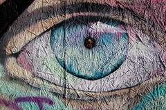 Eye textured painted