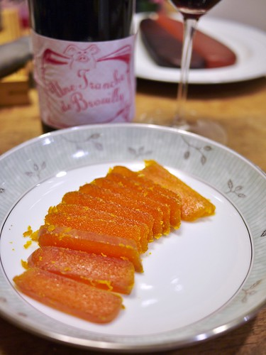 Mullet roe with Brouilly...烏魚子與薄酒萊