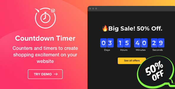 Countdown Timer v1.2.0 - Countdown Timer plugin