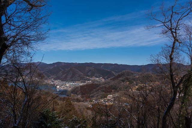 奥高尾の稜線@桜山展望台