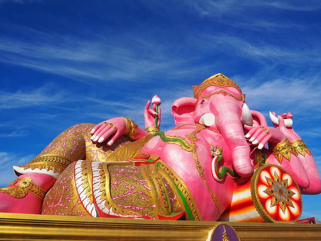 P1020500 Wat Saman Rattanaram(ワット・サマーン・ラッタナーラーム) ピンクガネーシャ バンコク Bangkok ひめごと