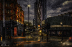 Rainy Streets of Manchester