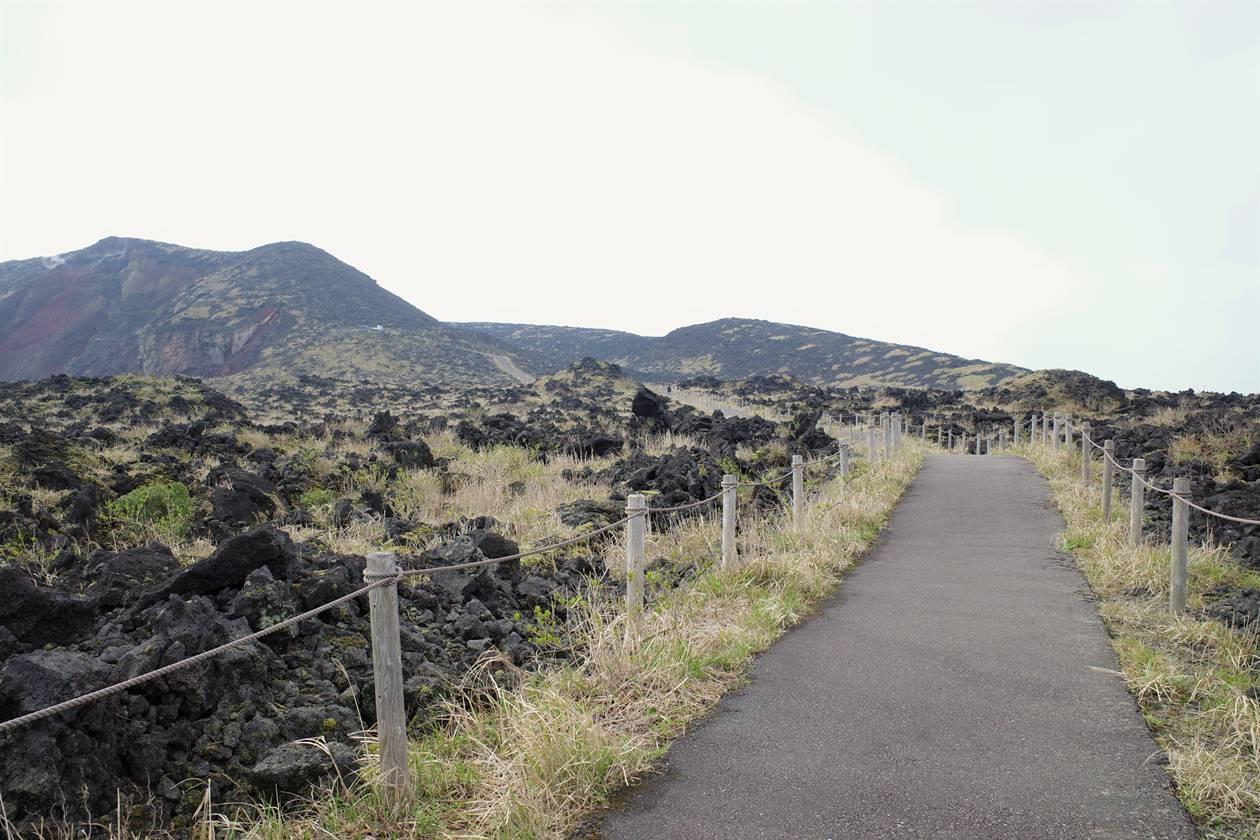 伊豆大島・三原山ハイキング 火口見学コース
