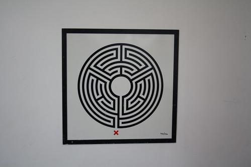London Underground Labyrinth 44 South Kenton close up