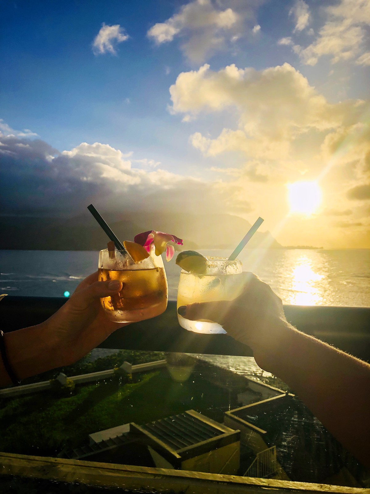 Sunset Drinks St Regis Princeville Resort Kauai Hawaii | Best Things to do in Kauai