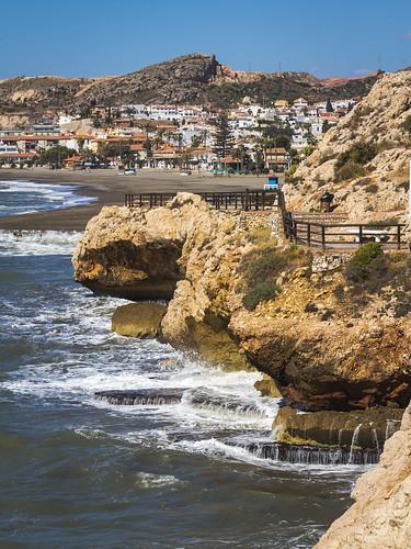 Spain - Malaga - Rincon de La Victoria - Coastal Path - El Cantal cliffs