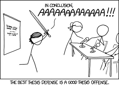 Thesis defense (xkcd)
