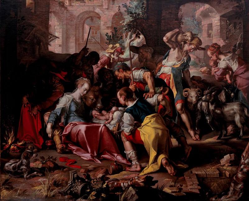 Joachim Wtewael - The Adoration of the Shepherds (1598)