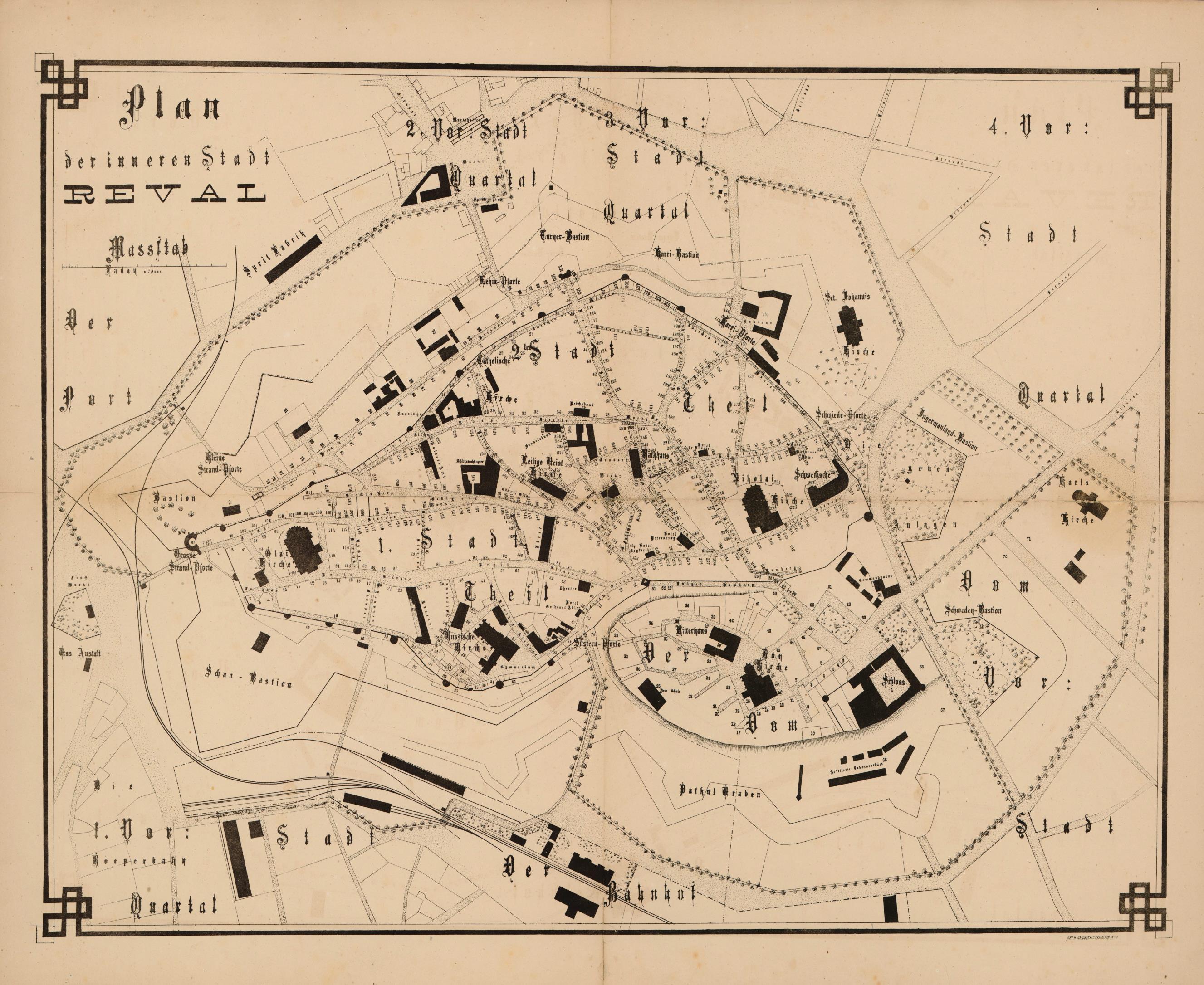 1870. Карта Ревеля